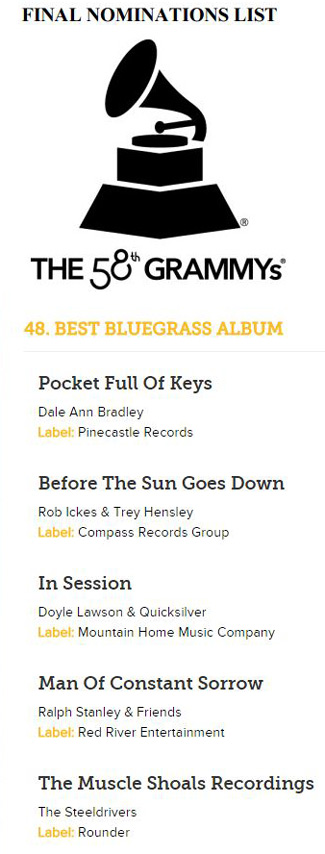 Grammy 2016 Nomination
